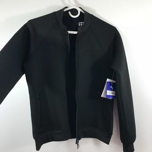 0b53ed93f JoyLab Black Scuba Bomber Jacket Exercise Athletic NWT